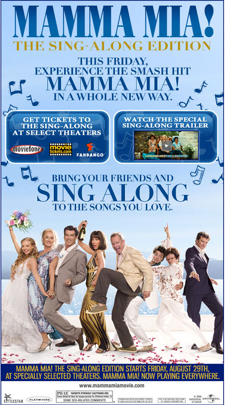 MAMMA MIA! THE SING ALONG EDITION (USA)